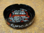 Black Chicago Attractions Ashtray