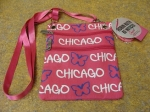 Chicago Pink Butterfly Neck Wallet