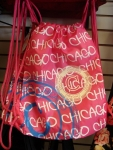 Pink Chicago Drawstring Backpack
