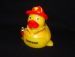 Chicago Fire Fighter Rubber Ducky