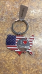 I Heart Chicago United States Keychain