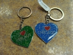 Chicago Heart Keychains