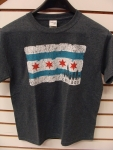 Kids Chicago Flag Dark Gray T-shirt