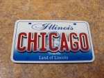 Chicago License Plate Magnet