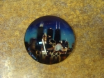 Chicago Night Glass Magnet