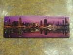 Pink Chicago Skyline Reflection Magnet