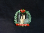 Chicago Pewter Skyline Wreath Ornament