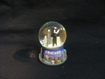 Mini Blue Skyline pewter Snowglobe