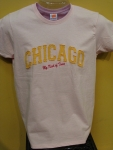 ChicagoMy Kind Of Town Lt.Pink T-shirt