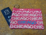 Pink Fat Letter Rectangle Coin Purse