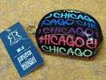 Chicago Fat Letter Round Coin Purse