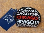 White Chicago Fat Letter Round Coin Purse