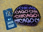 Purple Chicago Fat Letter Round Coin Purse