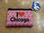 I Heart Chicago Pink Coin Purse