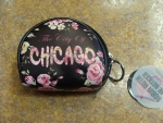 Chicago Floral Round Coin Purse