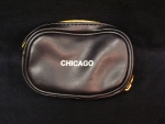 Chicago Black & Gold Leather  Change Zip Purse