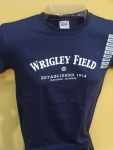 Kids Navy Wrigley Field T-shirt